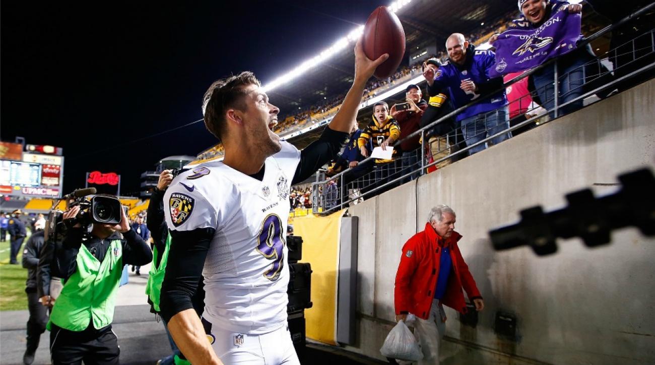 Baltimore Ravens' Justin Tucker sings Ave Maria