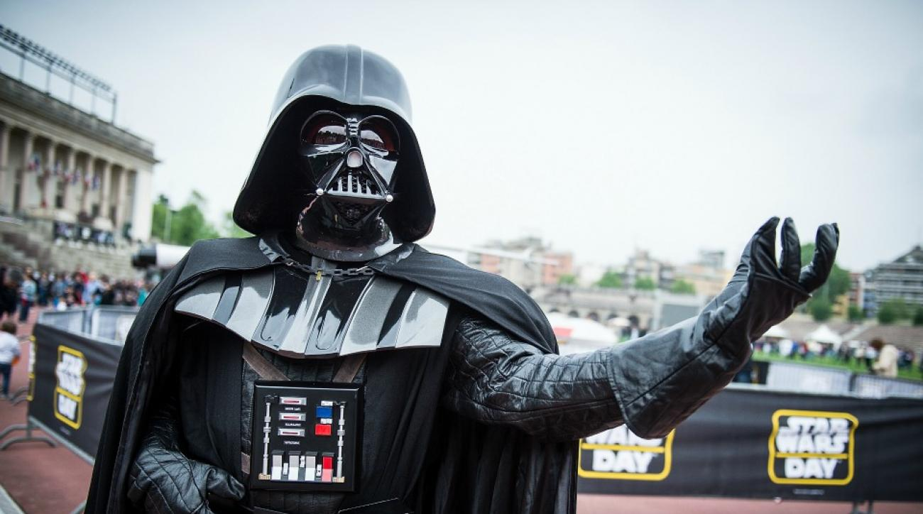 Darth Vader, Star Wars featured in elaborate banner at soccer game