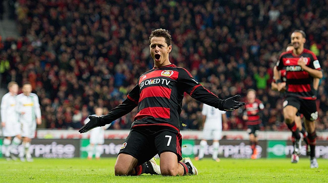 Chicharito hat trick Bayer Leverkusen