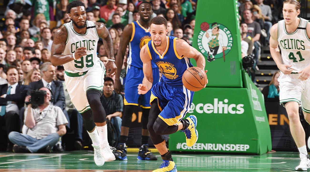 Stephen Curry Golden State Warriors Boston Celtics 24-0