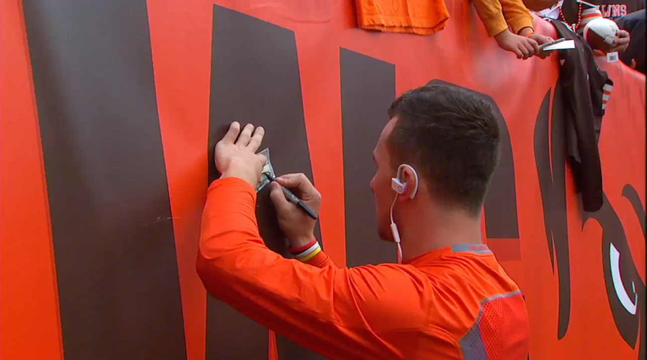 johnny manziel autographs money browns