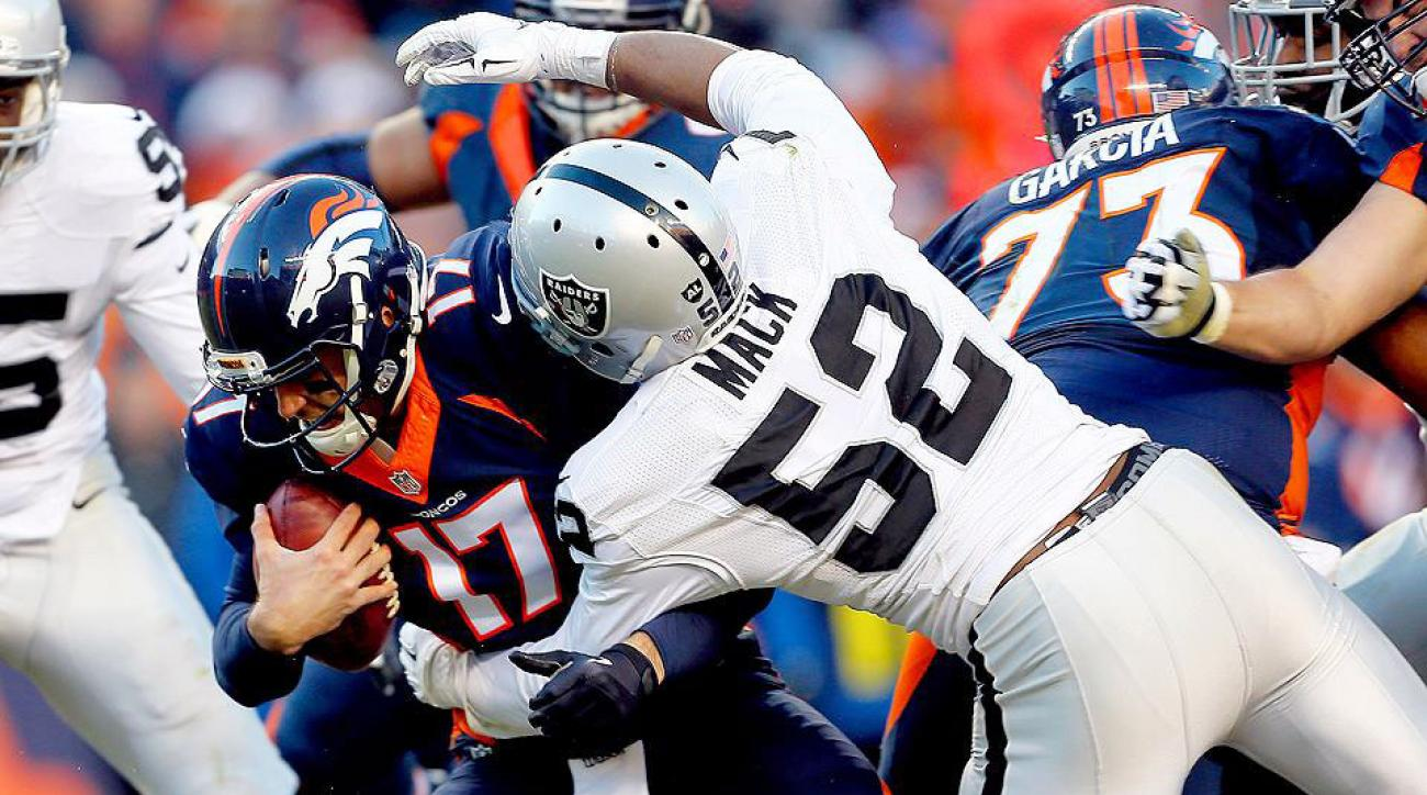 Khalil Mack posts five sacks as Raiders upset Broncos