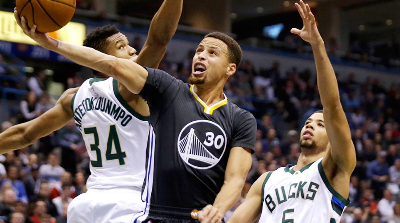 Stephen Curry Golden State Warriors Milwaukee Bucks win streak ends