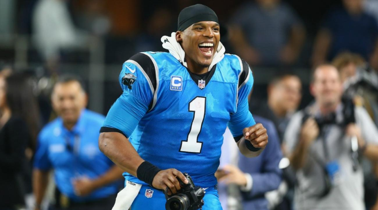 Carolina Panthers' Cam Newton startled by teammate's MVP chant
