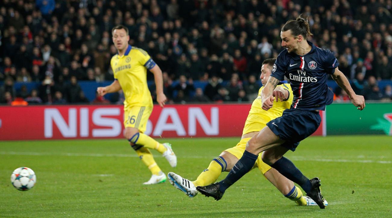 Zlatan Ibrahimovic, Chelsea vs. PSG