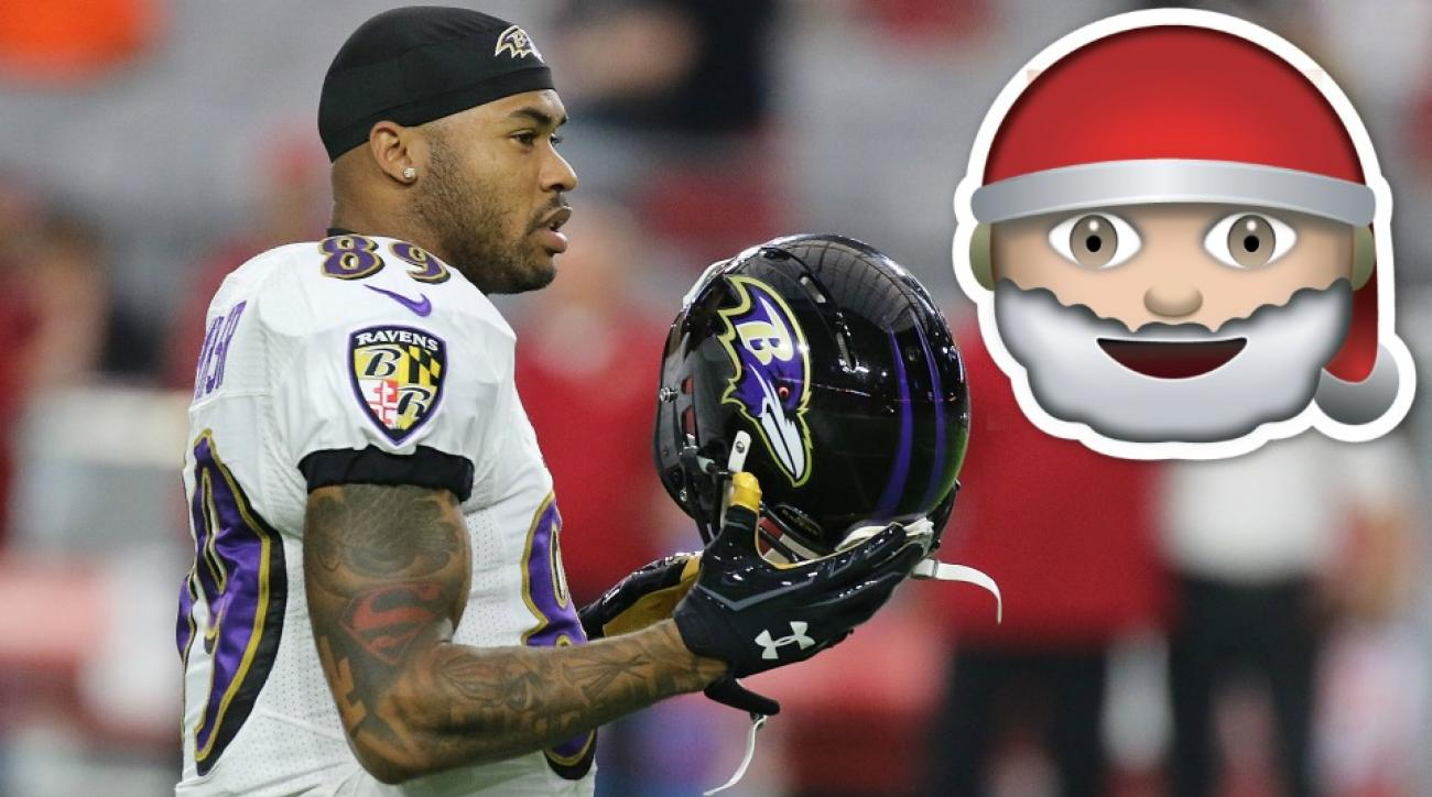 Ravens' Steve Smith will fight Santa Claus