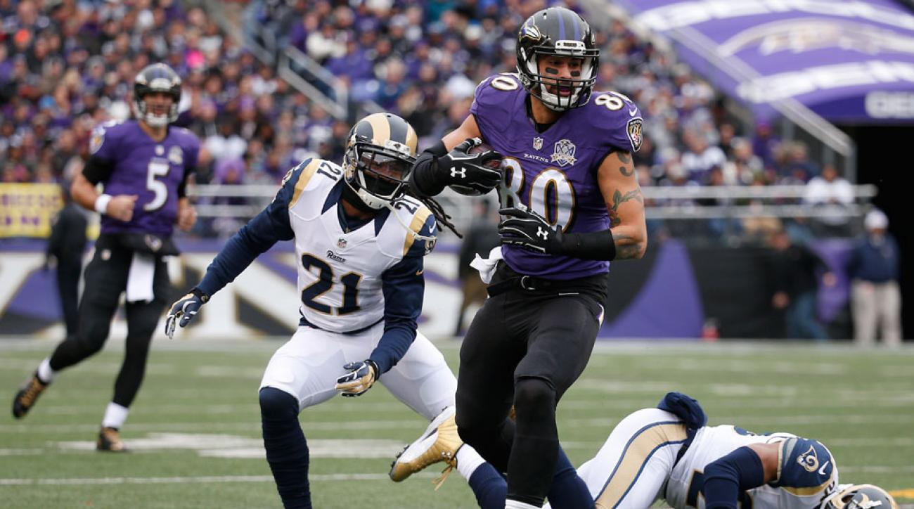 crockett gillmore out for season baltimore ravens injury