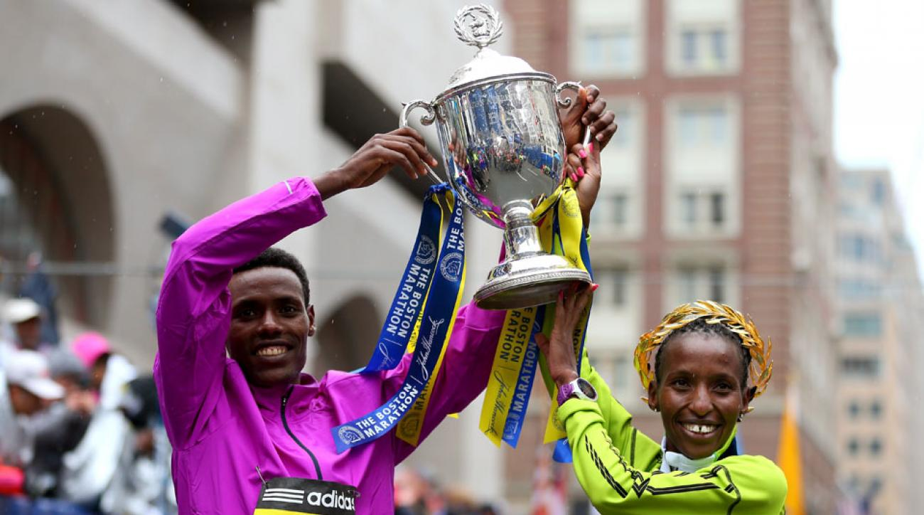 lelisa desisa caroline rotich boston marathon champions return 2016