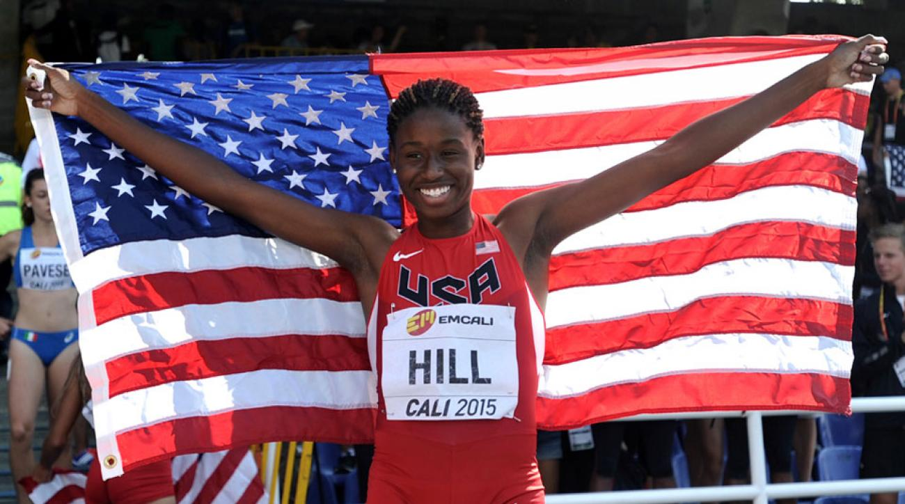 candace hill turns professional asics contract