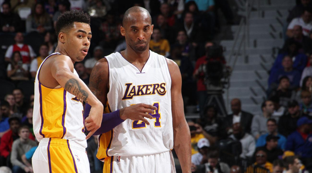 d'angelo russell kobe bryant dunk fine lakers