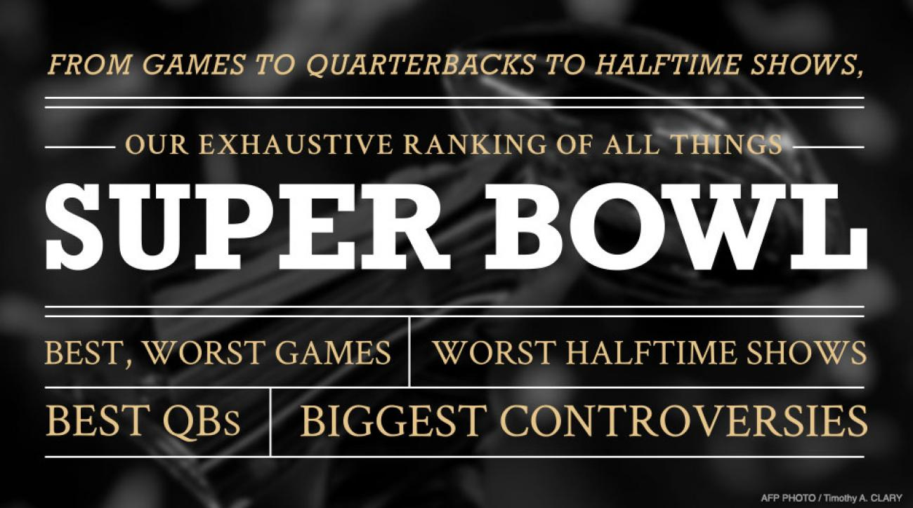 Super Bowl Rankings: Lists of all things from NFL title game