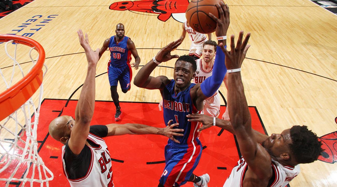 Reggie Jackson Detroit Pistons Chicago Bulls 4 OT