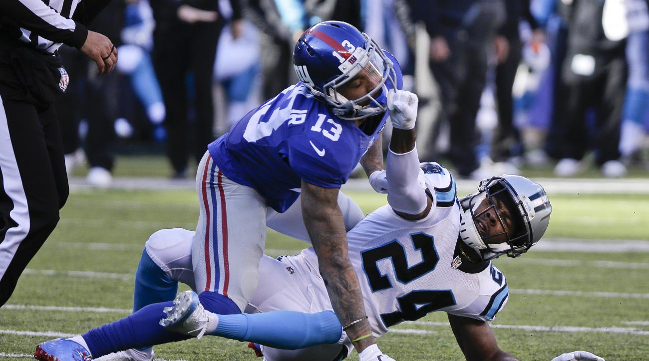 odell beckham josh norman fight video