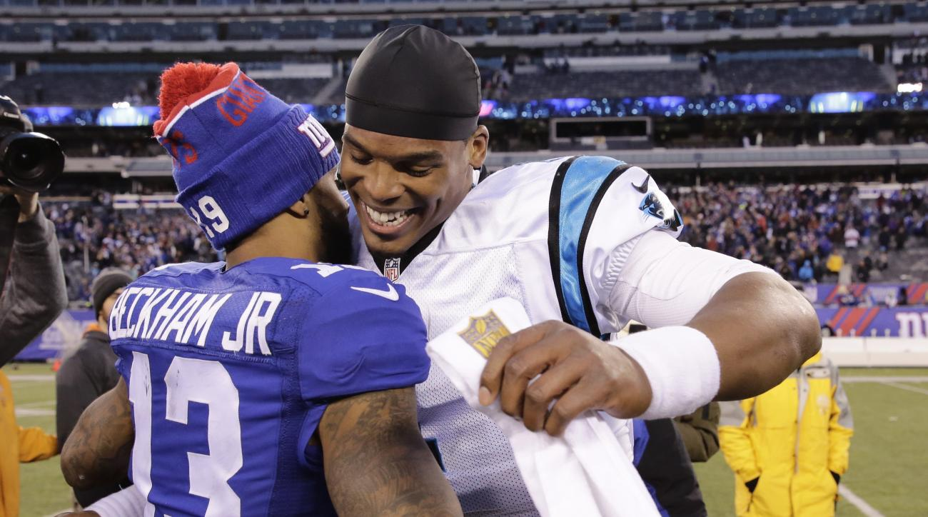 cam newton odell beckham hug video