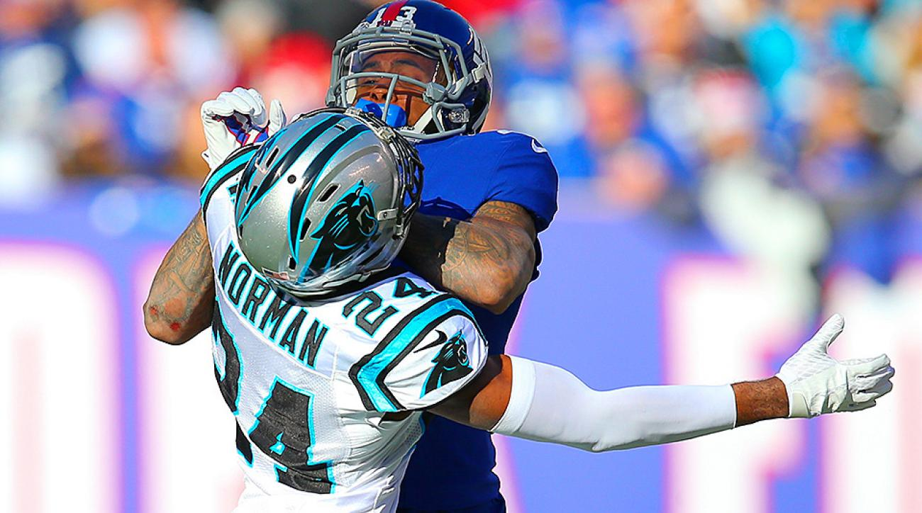 Odell Beckham Jr. was reckless in his spats with Josh Norman during the Giants' loss to the Panthers in Week 15. Rich Graessle/Icon Sportswire