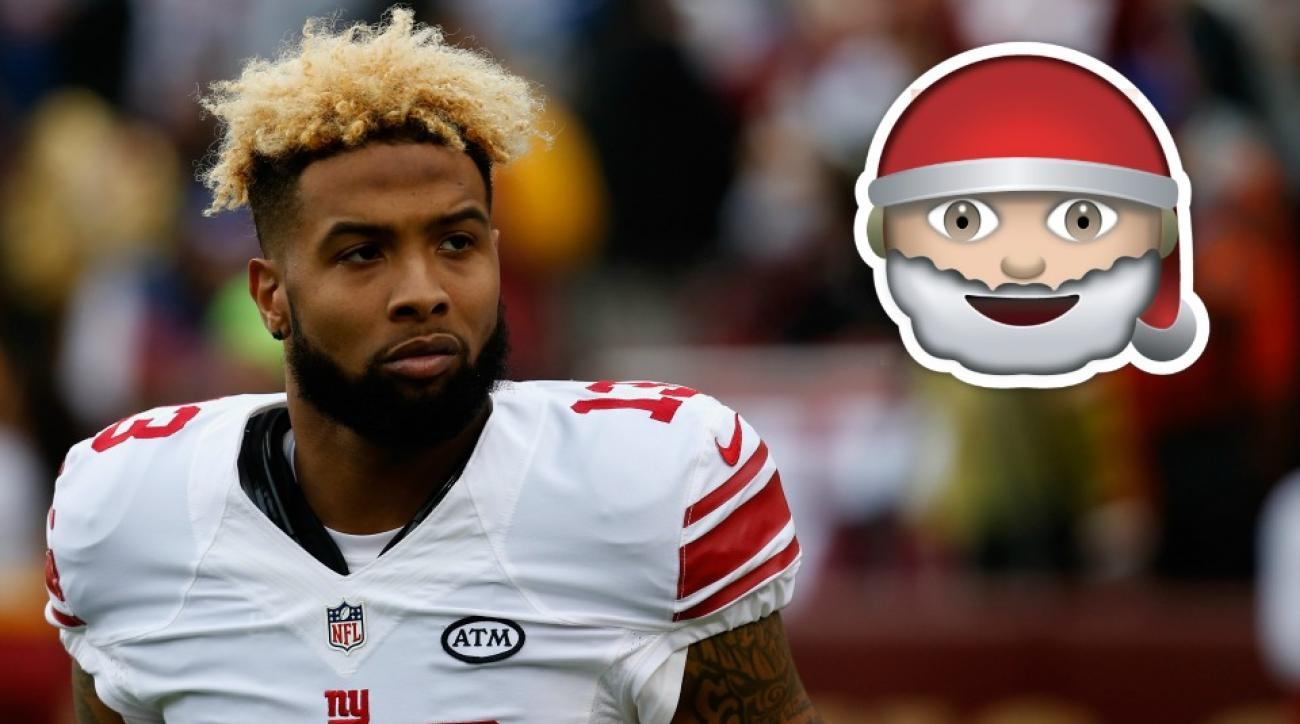 New York Giants' Odell Beckham is getting coal from Santa after Panthers game