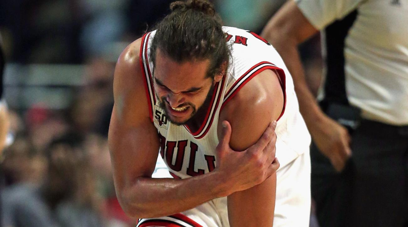 joakim noah shoulder injury chicago bulls out two weeks