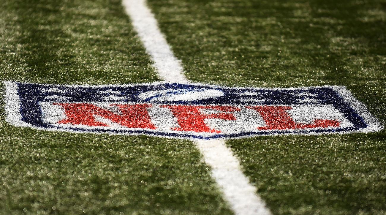 The NFL logo appears on a field.