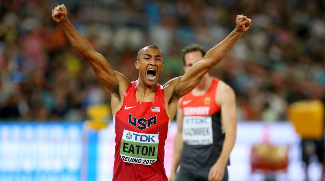 ashton eaton usain bolt world record decathlon
