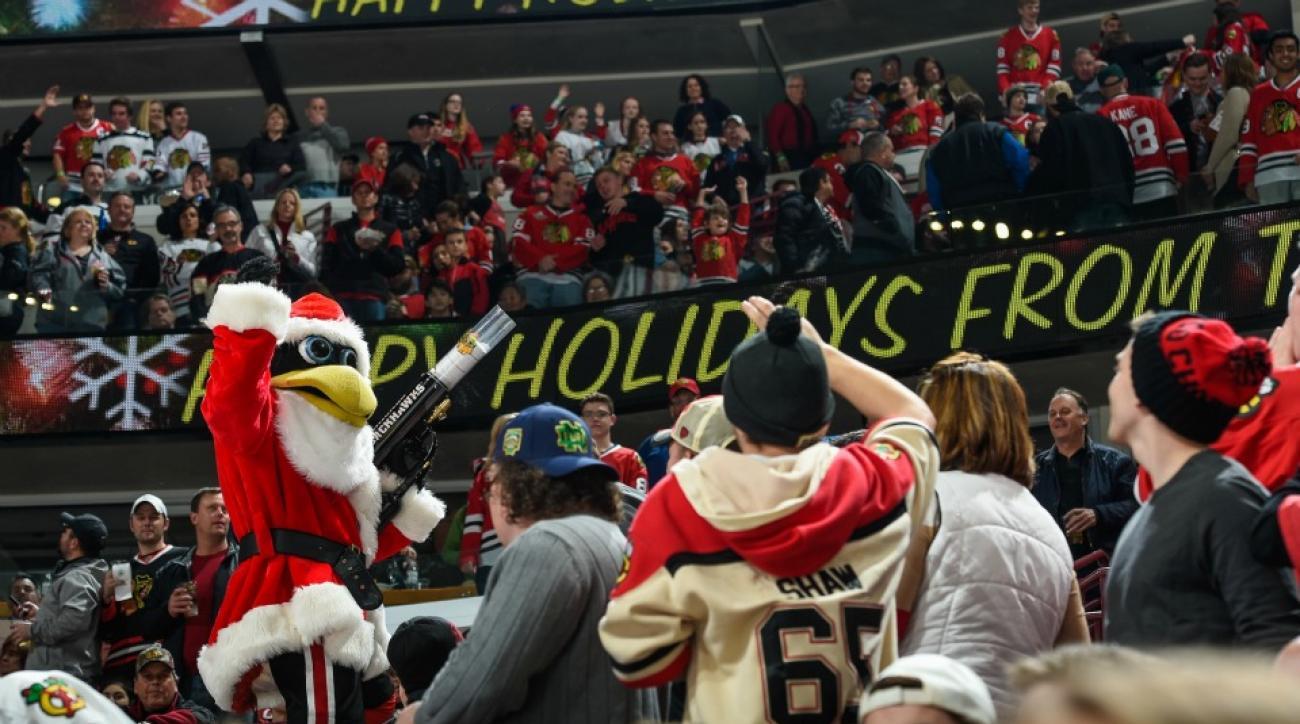 blackhawks make three hour long yule log video for fans - Blackhawks Christmas