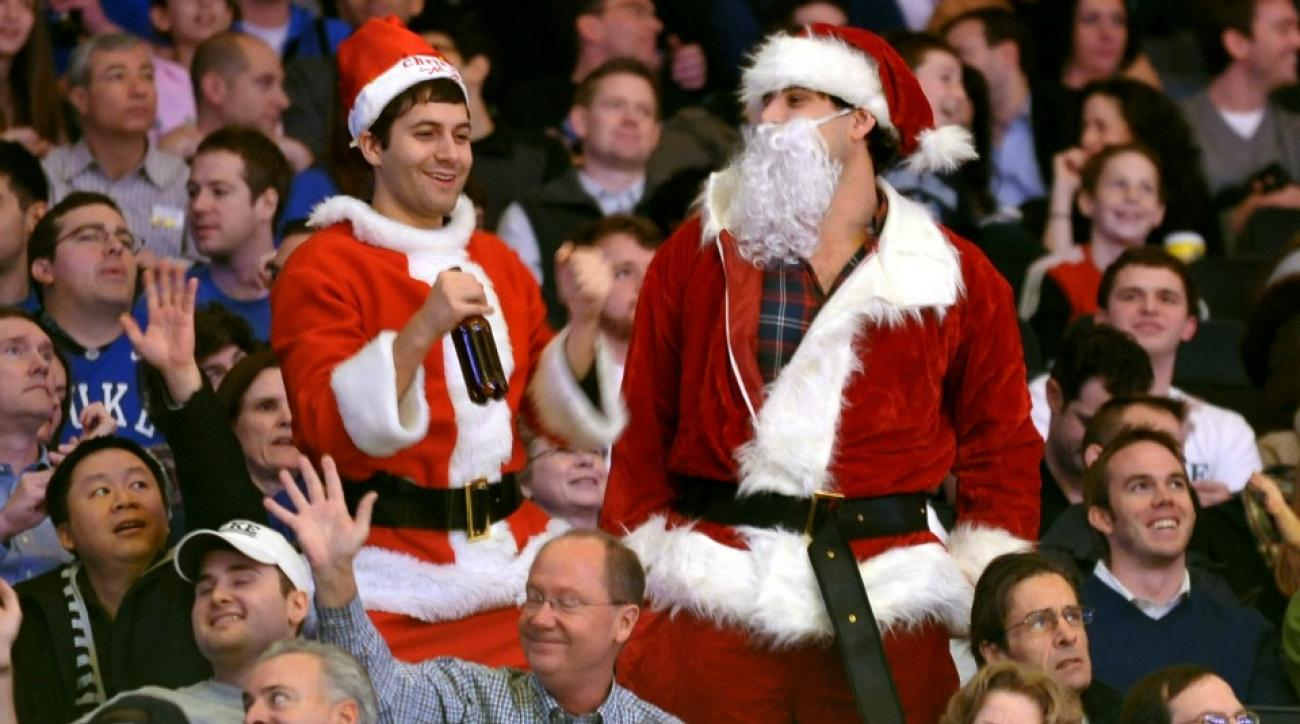 college athletic departments christmas eve