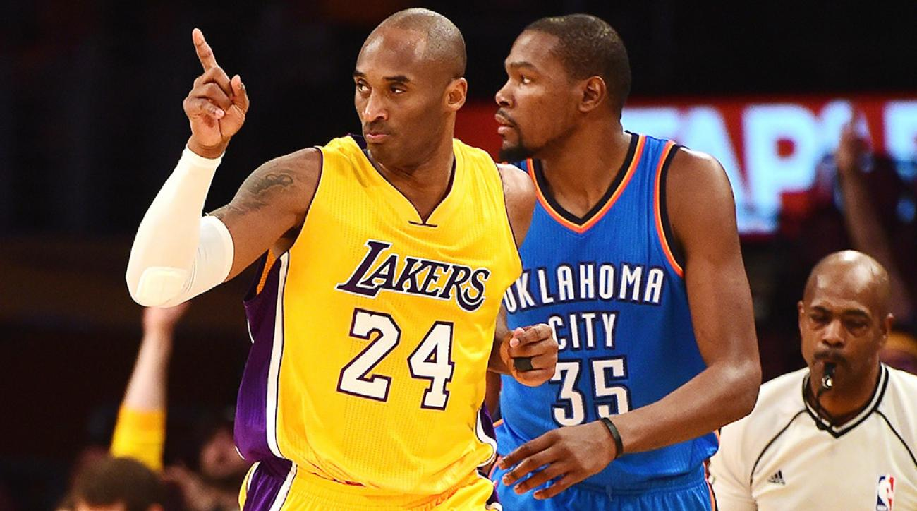 Kobe Bryant Kevin Durant shoes Lakers Thunder