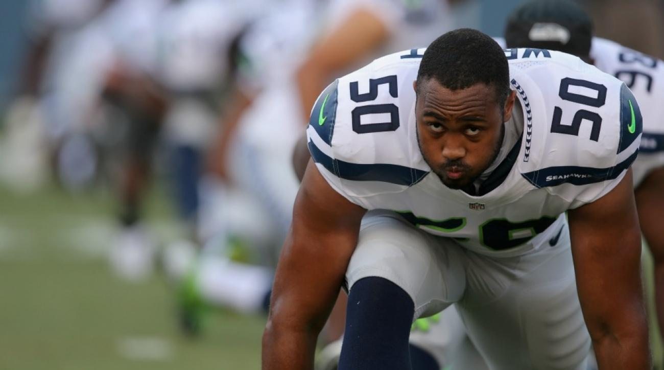 Seattle Seahawks K.J. Wright proposed in the Boeing factory