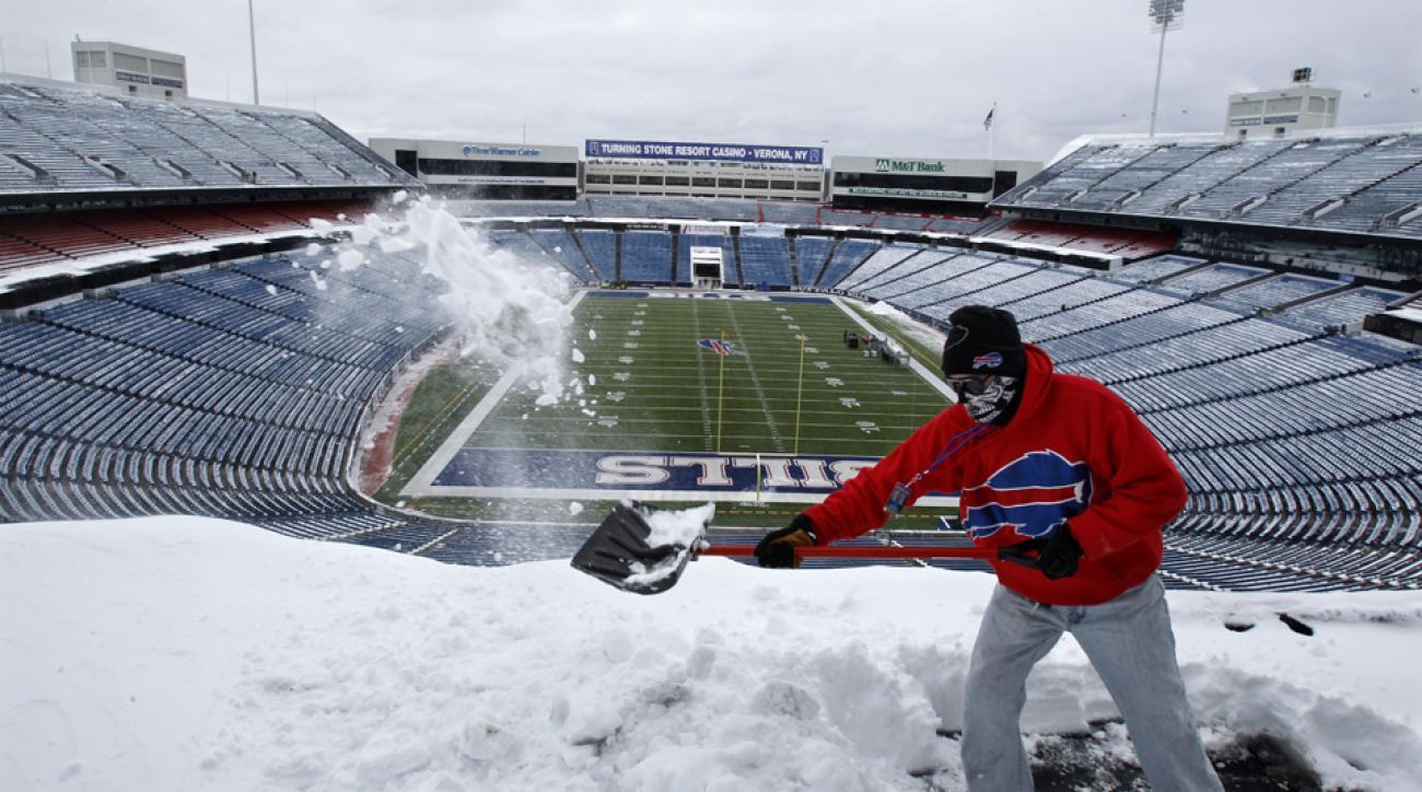 bills jets snow shoveling