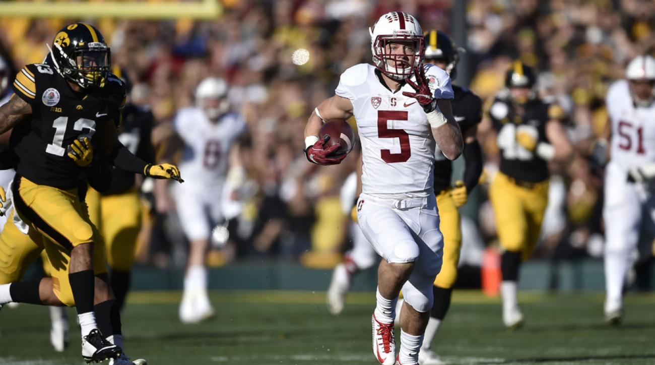 Video: Stanford's Christian McCaffrey scores two TDs in ...