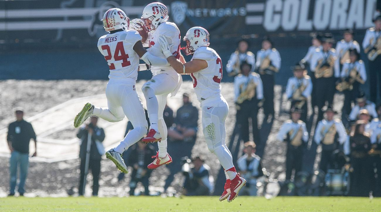 stanford cardinal quenton meeks int return td rose bowl