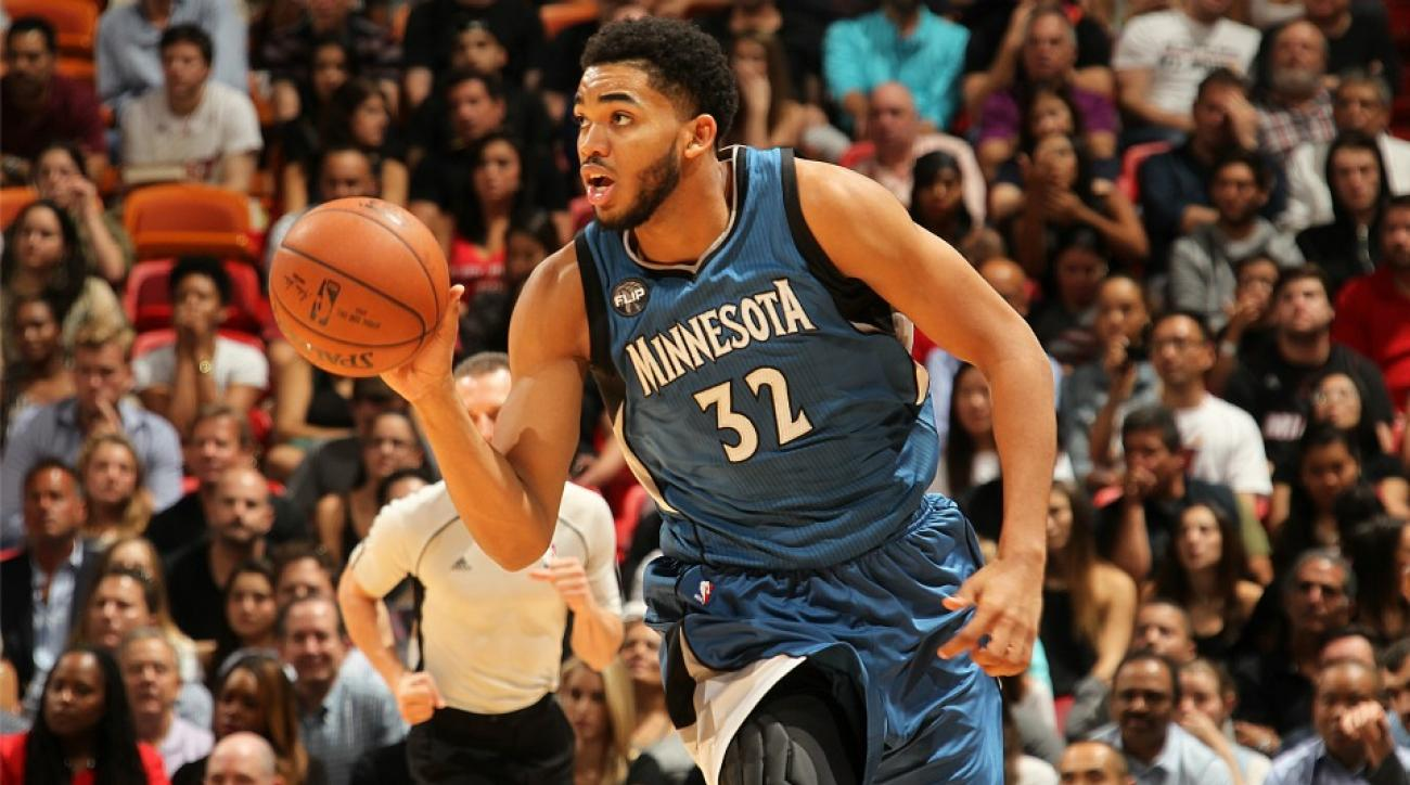 TImberwolves' Karl-Anthony Towns watching his entire career so far