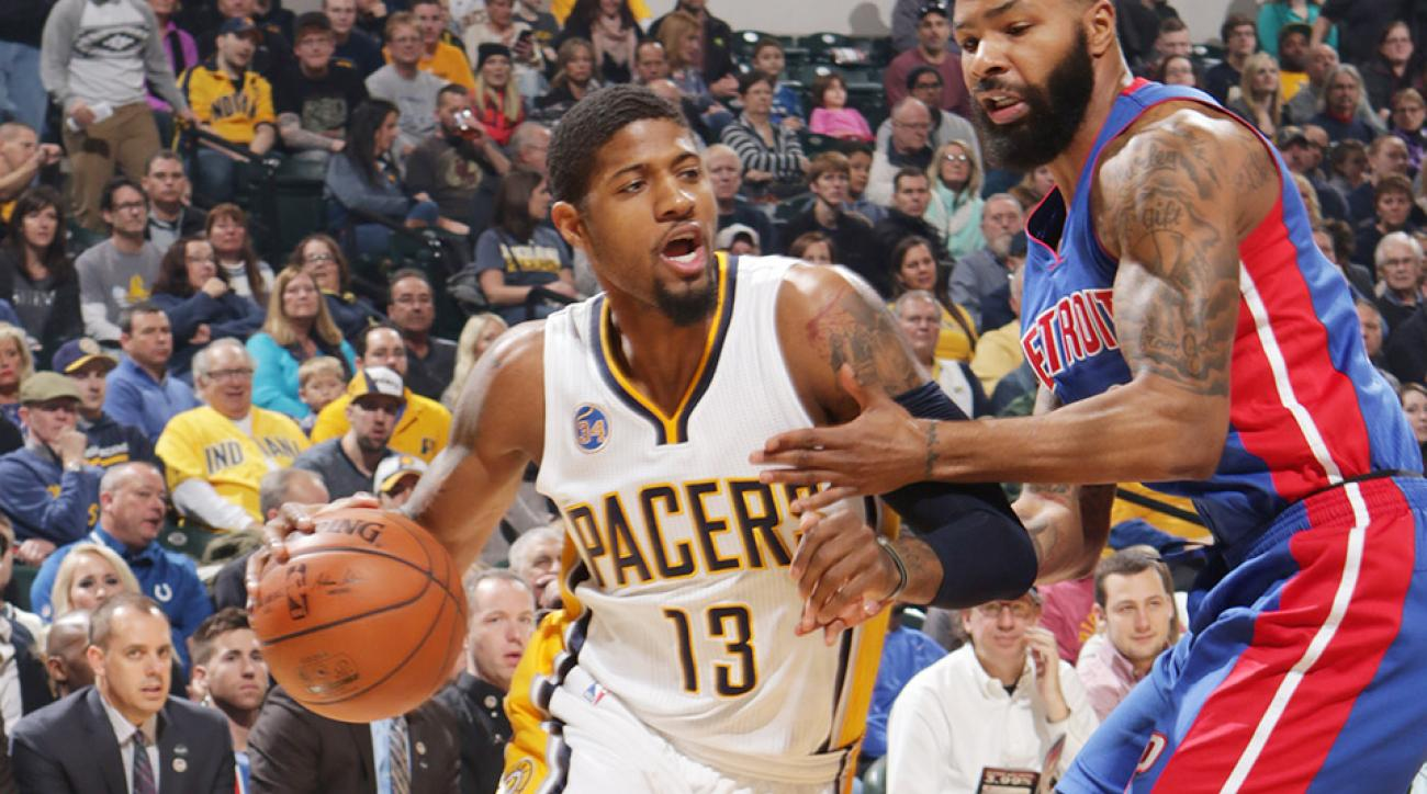 Indiana Pacers Detroit Pistons Paul George Marcus Morris