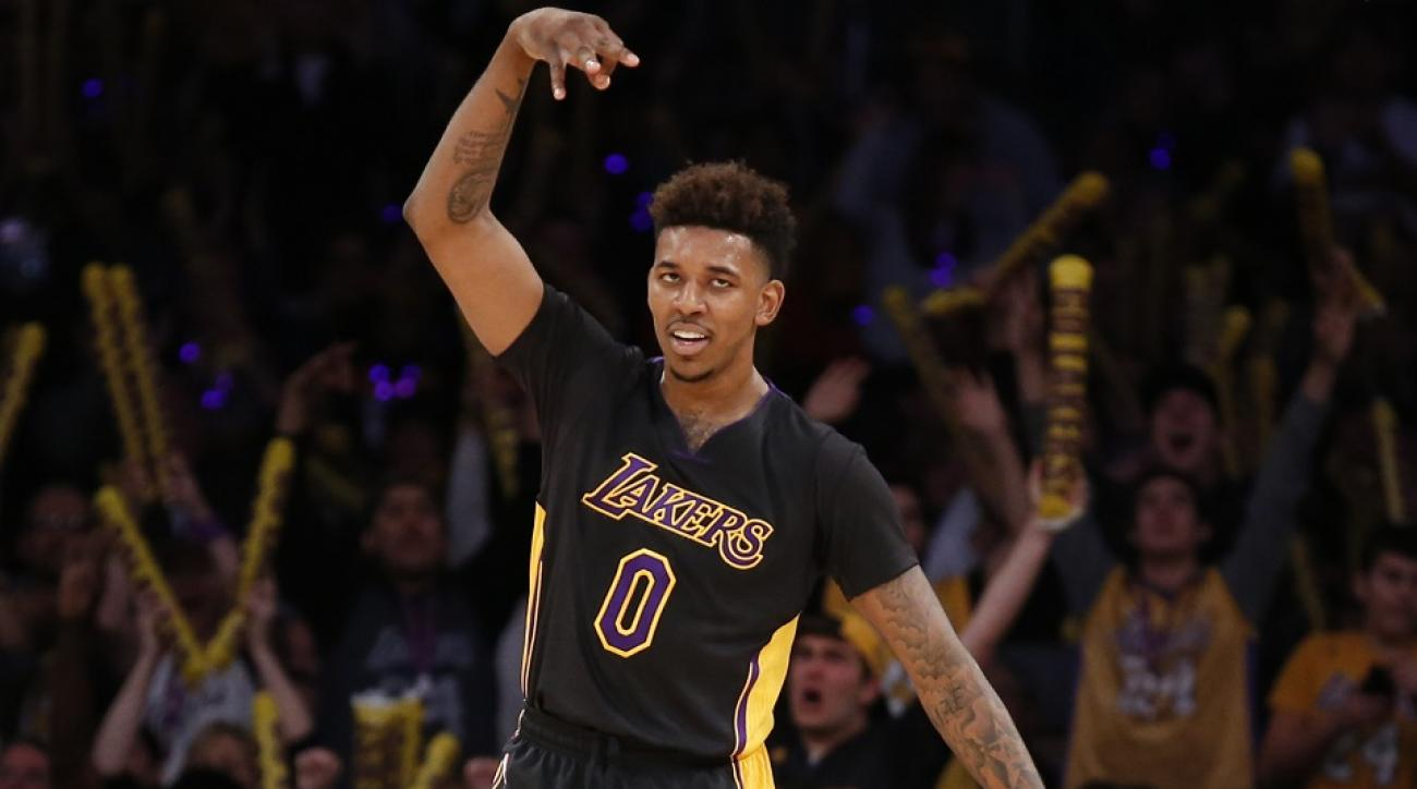 nick young swaggy p kanye west yeezy boost lakers