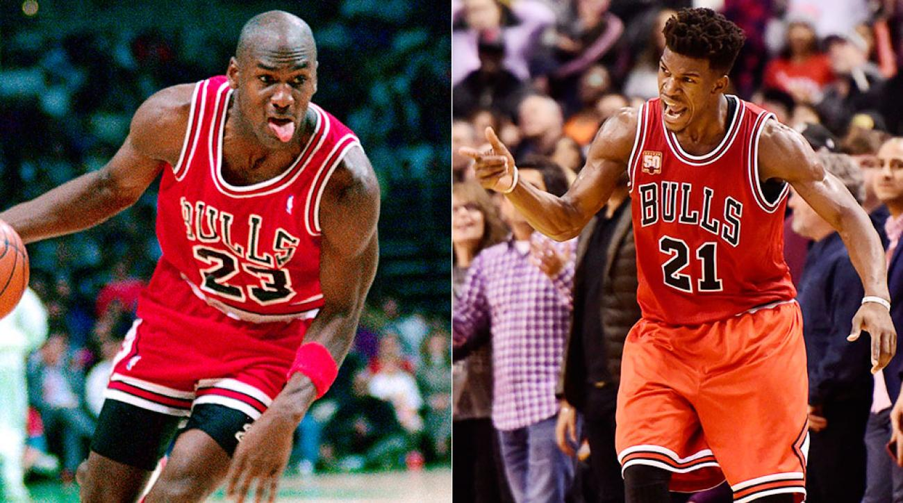 Nba Basketball Series Michael Jordan Chicago Bulls: Chicago Bulls Video: Jimmy Butler Breaks Michael Jordan's