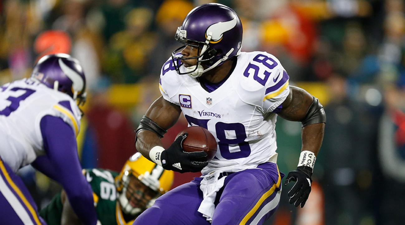 vikings adrian peterson back injury update
