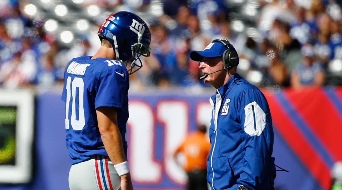 eli manning reaction giants coach tom coughlin