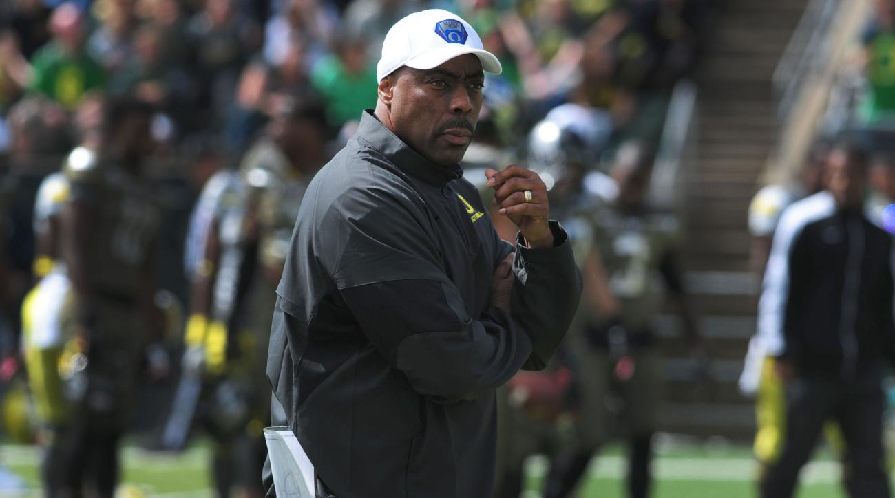 oregon defensive coordinator don pellum demoted linebackers coach