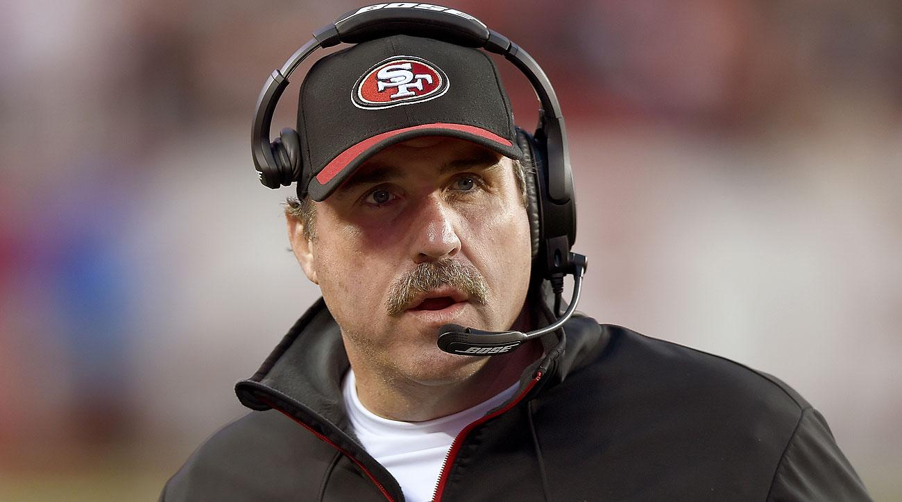 Jim Tomsula was fired after one season as Niners coach. The team went 5-11.