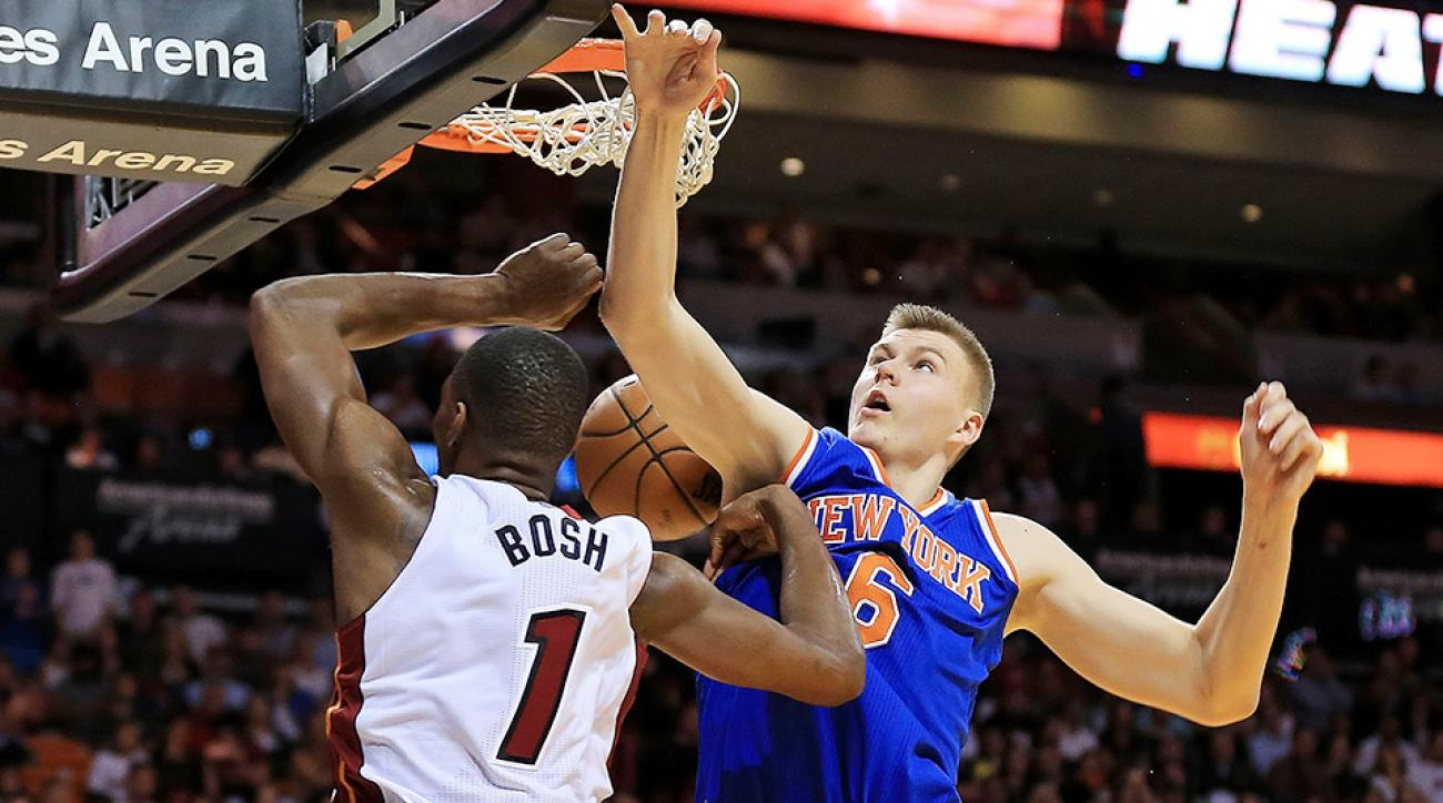 New York Knicks Miami Heat Kristaps Porzingis