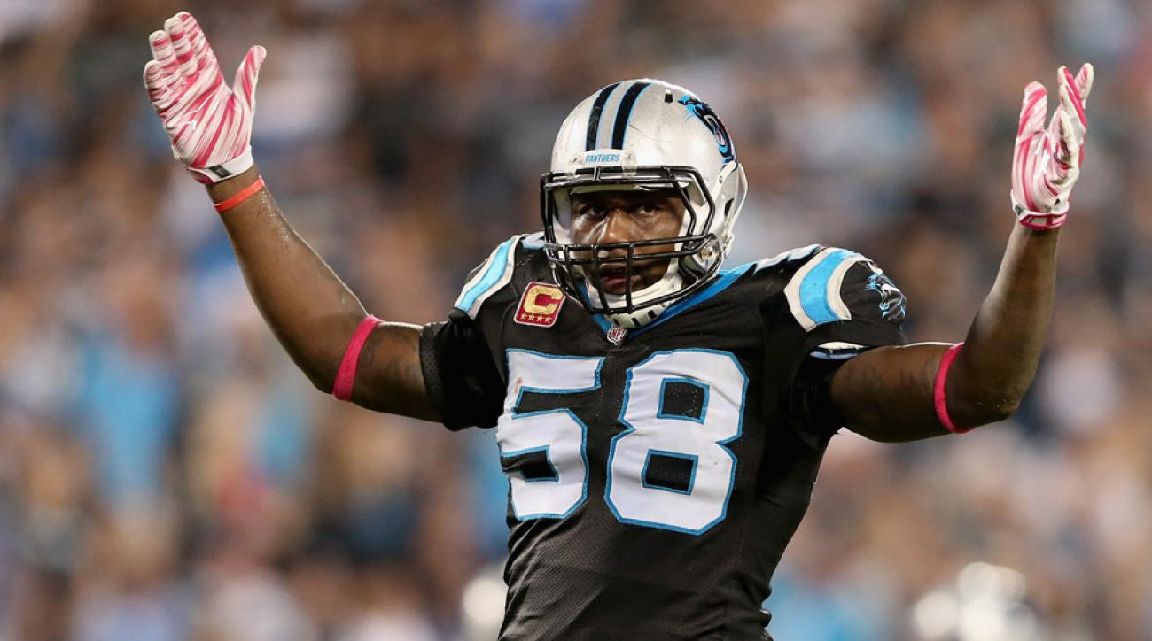thomas davis carolina panthers super bowl record playoffs