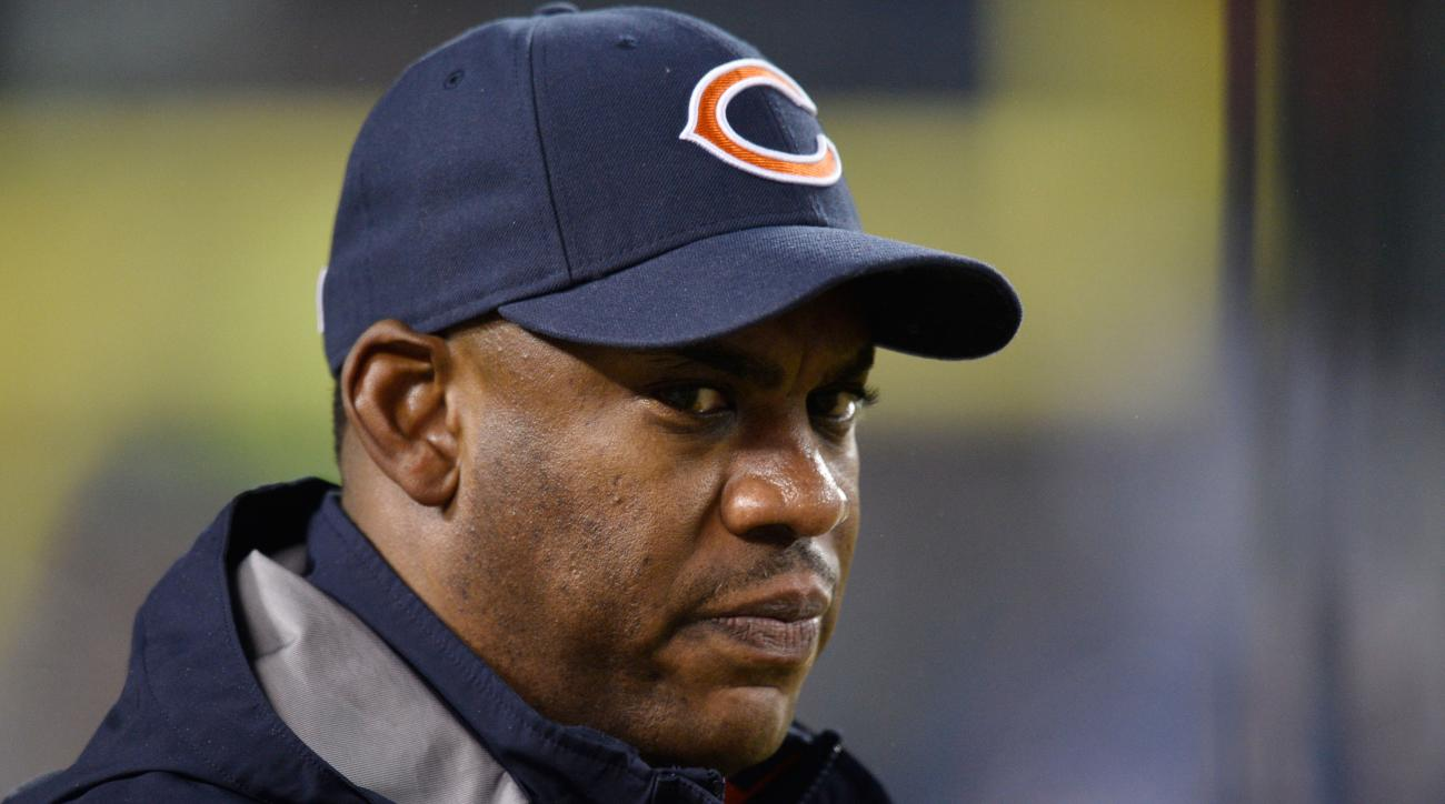 Tucker in 2014 as the defensive coordinator of the Chicago Bears