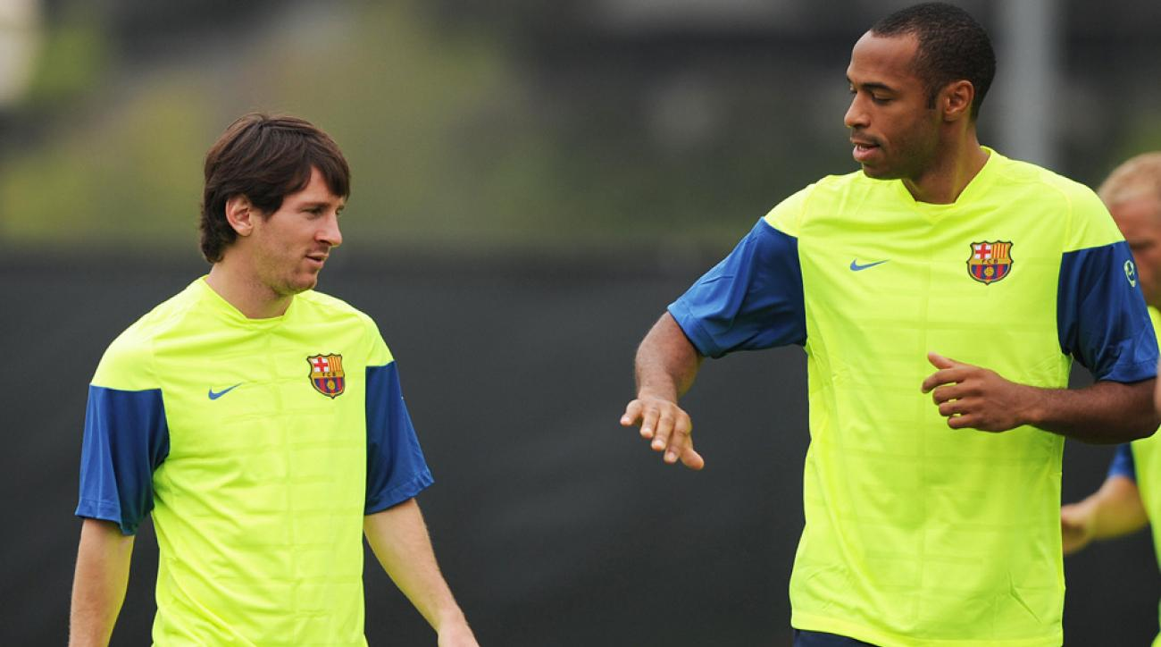 Lionel Messi, Thierry Henry, Barcelona