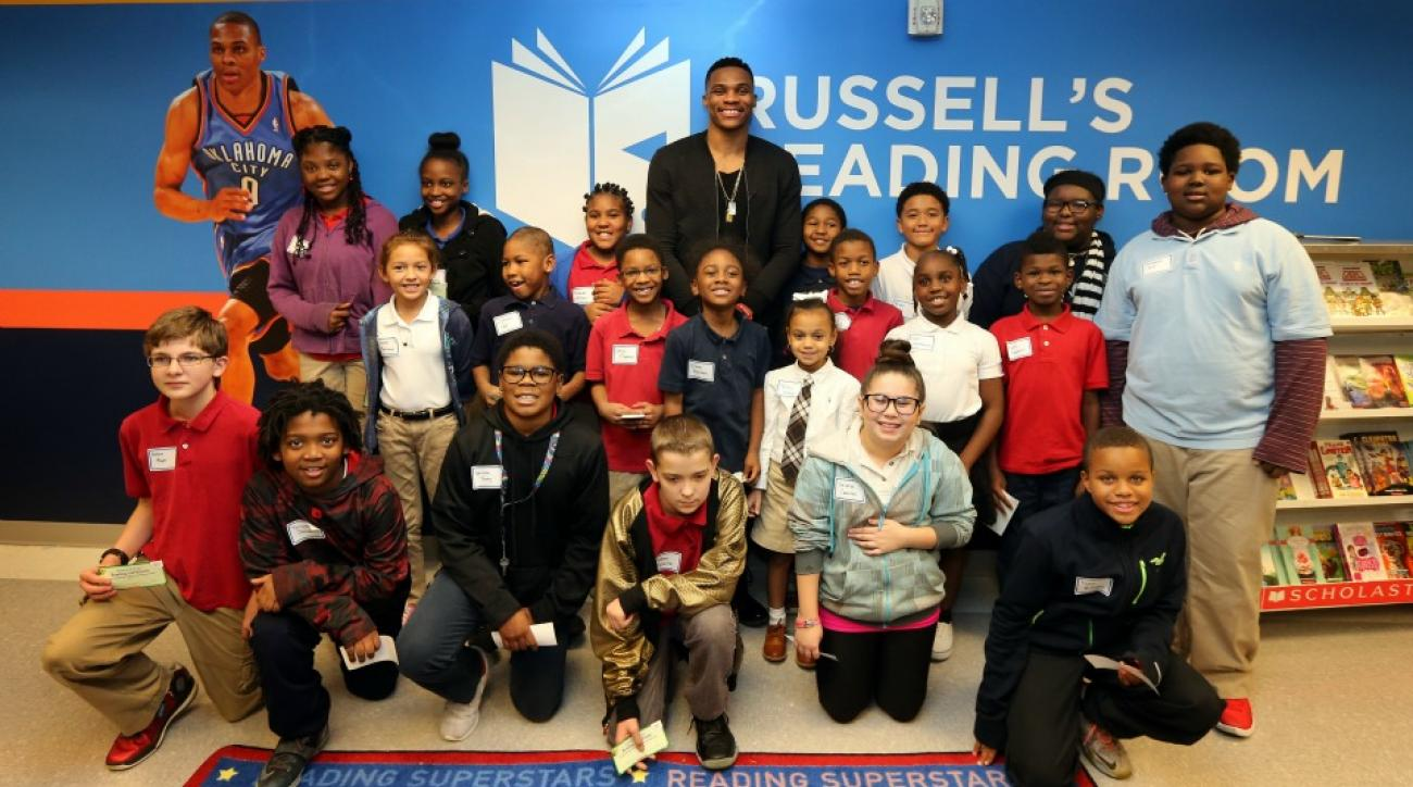 Russell Westbrook opened his seventh reading room