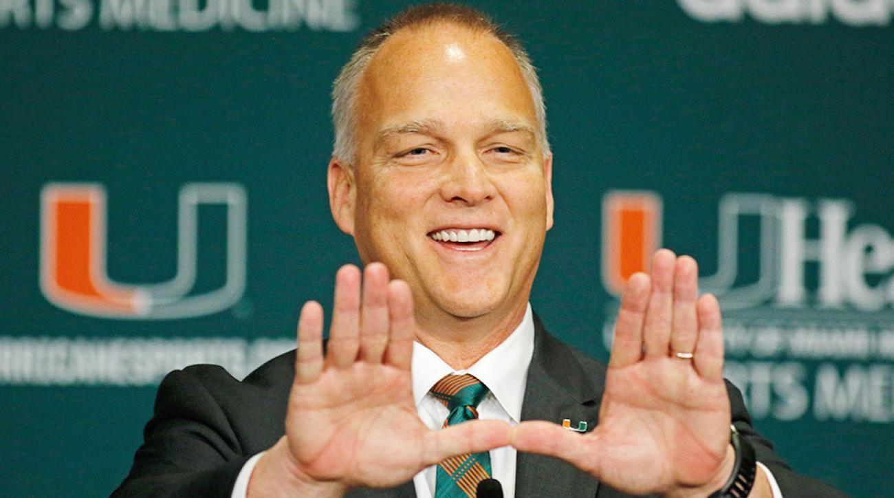 Ron Dugans Mark Richt Miami Hurricanes football