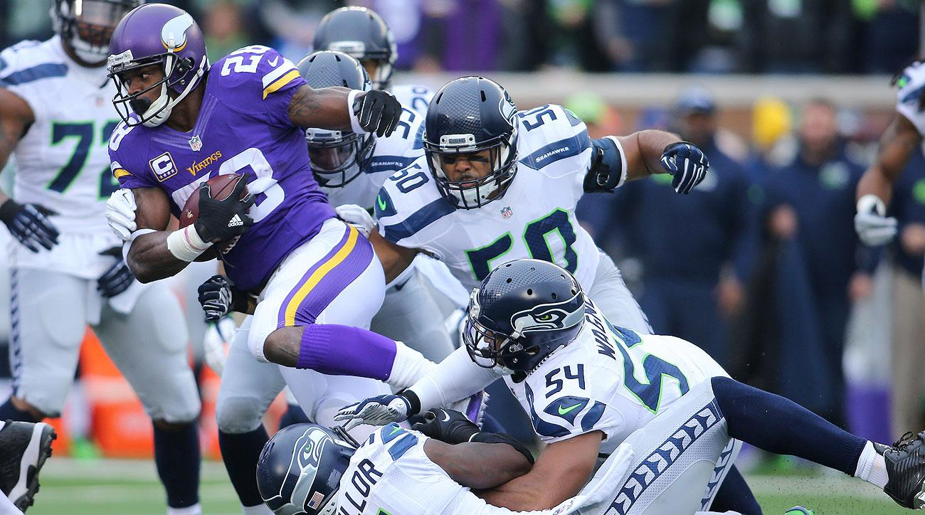 Adrian Peterson only gained 18 yards on eight carries in the Vikings' 38-7 loss to the Seahawks on Dec. 6.