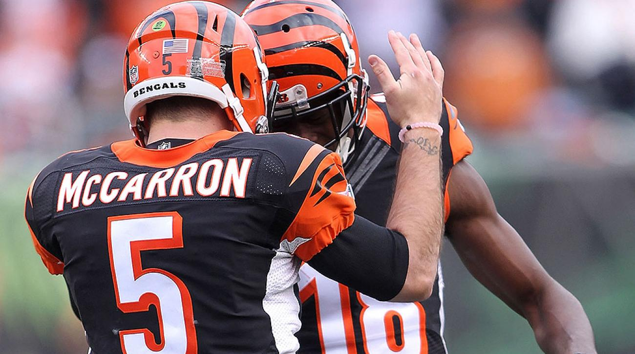 A.J. Green touchdown: Pass from A.J. McCarron puts Bengals up on Steelers