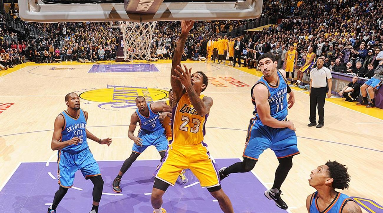 Los Angeles Lakers Oklahoma City Thunder Lou Williams video