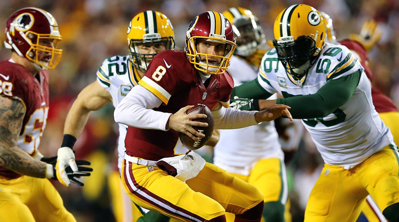 kirk cousins rushing touchdown video redskins packers