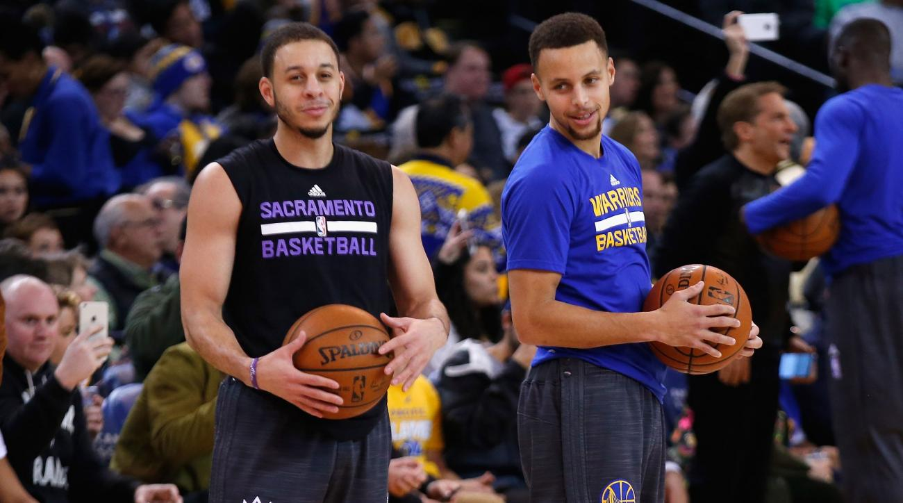 stephen seth curry shot warriors kings video