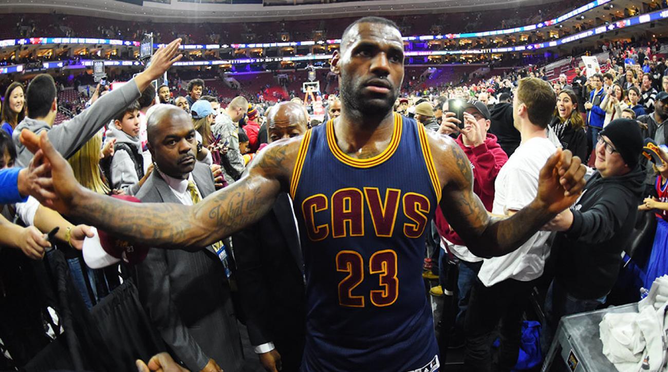 lebron james dunk video cavaliers 76ers